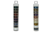 Nymo Nylon Beading Thread Size D for Delica Beads - 20 Bobbins of 64 Yards Each, Light Mix and Dark Mix, 2 Tubes with 10 Colours Each