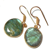 Sitara Collections SC10324 Gold-Plated Labradorite Earrings