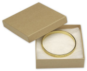 Halulu Pack of 20 Pcs Jewellery Gift Boxes Cotton Filled Jewellery Displays - Available in White & Natural Kraft