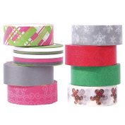 Polar Bear® Washi Masking Tape Collection, 1.5cm X 10 Yards each, Set of 8,