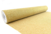 Creative Ideas 48cm Faux Glitter Burlap Roll, 5 Yards, Natural