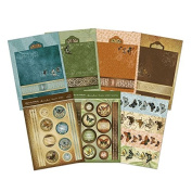 Hunkydory Flight of the Butterflies Parchment Trail Premium Cards Card Kit