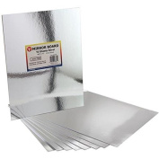 Hygloss Mirror Board, 22cm by 28cm , Silver, 20-Pack