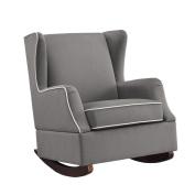 Dorel Living Baby Relax Hudson Upholstered Wingback Nursery Room Rocker, Graphite Grey