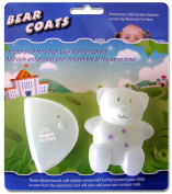 Mommy I'm Here CL606C Bear Coats Protective Fashion Covers Add Style and Protect Your Child Locator, Clear