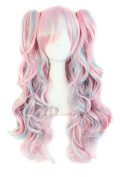 Mecawig Multi-colour Lolita Long Curly Clip on Ponytails Cosplay Wig