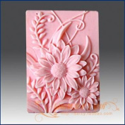 Longzang Flower Silicone Mould Craft Art Silicone Soap Mould Craft Moulds DIY Handmade Soap Moulds