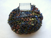 Muench Fabu Boucle Ribbon Yarn - #4311 Blue Olive Brown Grey 50 Gramme
