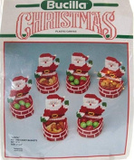 Santa Plastic Canvas Nuts and Candy Baskets - Set of 6 - Kit #61129
