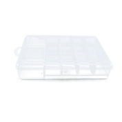 10 PCS Clear Beads Tackle Box Arts Crafts Tackle Storage Plastic Boxes Organisers Containers Case XX022