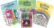 Just for Laughs Adult Colouring Book Kit with Glitter Marker Set