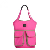 7AM Enfant Barcelona Nappy Bag, Neon Pink