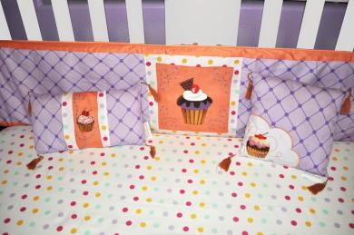 Polka Dot Crib Fitted Sheet 100% Cotton Mint, Yellow, Magenta, Purple