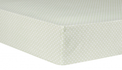Trend Lab Sea Foam Dot Fitted Crib Sheet, Sage