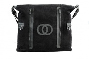 Cosy Coop 9062 Black Velour Nappy Bag