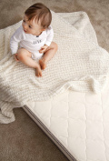 My Green Mattress Organic Cotton and Natural Wool Crib Mattress, Two-Sided, Made in USA