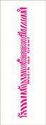 Wall Decor Plus More Zebra Growth Chart Vinyl Wall Decal Girls Room Decor 0.6m - 1.8m Hot Pink, 0.6m - 1.8m, Hot Pink