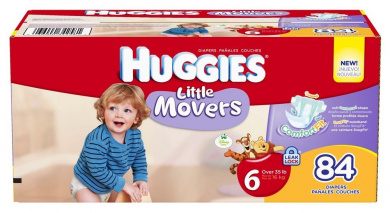Huggies Little Movers Nappies, Size 6 Giant Pack, 84 Count