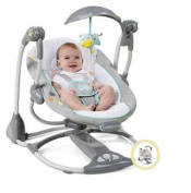 New Portable Ingenuity ConvertMe Swing-2-Seat Swing for Baby | Machine Washable Seat Pad & Head Support | Swing Timer & WhisperQuietTM Operation