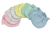 Solid Colour Mix 5 Cotton No Scratch Infant Mittens/baby Gloves 0-3 Months
