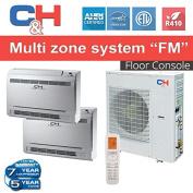 Cooper & hunter +Multi Dual-zone System with Console 18,000 BTU Inverter Heat Pump