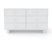 Oeuf Merlin 6 Dresser with Rhea Base in White