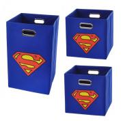 Superman Logo Storage and Laundry Bundle Pack, Blue