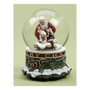 "Kneeling Santa Musical ""Silent Night"" Snowglobe"