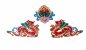 Modish Look Red Beautiful Dragon Fengshui Set Of Three Wall Hanging