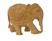Modish Look Elegant Brown Wooden Handcrafted Elephant