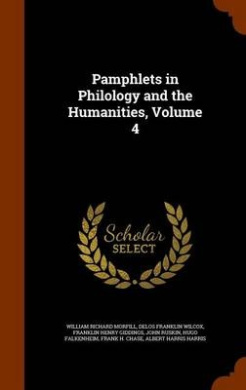 Pamphlets in Philology and the Humanities, Volume 4