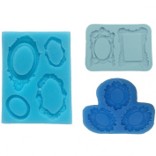 Vintage Frame Collections Silicone Moulds, for Sugar Paste, Chocolate, Fondant, Butter, Resin, Polymer Clay, Gum Paste, Wax, 7.6cm -Set