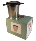Summit Tea - Brewing Basket - Stainless Steel - Extra Fine Mesh - for Loose Leaf and Herbal Teas - with Lid