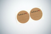 Once Upon Supplies 5.1cm Handmade with Love / Red Heart Labels Canning Labels, 40 Pcs