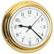 BARIGO Viking Series Quartz Ship's Clock - Brass Housing - 13cm Dial