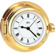 BARIGO Poseidon Series Porthole Quartz Ship's Clock - Brass Housing - 8.4cm Dial