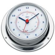BARIGO Sky Series Quartz Ship's Clock - Stainless Steel Housing - 8.4cm Dial