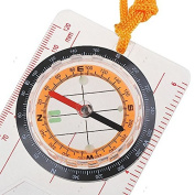 2 in 1 Compass with Map Measuring Ruler Lanyard Emergency Survival Tool for Camping Hiking Fishing----- & -----