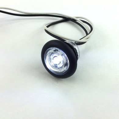 5 NEW RecPro 1.9cm RV MARINE BOAT INTERIOR WHITE ROUND LED ACCENT LIGHTS IP65 RECESSED MOUNT 12v