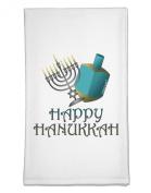 TooLoud Blue & Silver Happy Hanukkah Flour Sack Dish Towels
