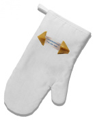 TooLoud Sarcastic Fortune Cookie White Printed Fabric Oven Mitt