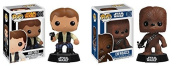 Funko Han Solo and Chewbacca Bundle - Your Favourite Star Wars Smuggling Team and Pilots of the Millennium Falcon - 2 Items
