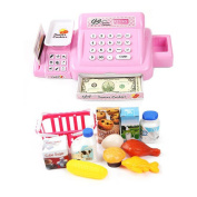 Cash Register Early Age Kids Basic Skills Development Pretend Play Shopping Food Toy Children Role Play House Educational Playset Toys Baby Girl Boy Sets