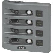 1 - Blue Sea 4374 WeatherDeck Water Resistant Circuit Breaker Panel - 4 Position - Grey