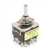 Baomain AC 380V 10A ON-OFF-ON 3 Positions 9 Pin Latching Toggle Switch 3PDT