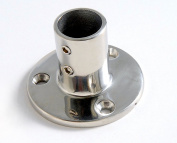Boat Hand Rail Fitting - 90 Degree 2.2cm Round Base-Marine Stainless Steel