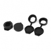 4 PCS Black Rubber Key Panel Cam Lock Dust Cover Waterproof Cap