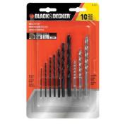 BLACK+DECKER™ 71-717 10pc Black Oxide & Masonry Drill Bit Set