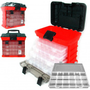 Stalwart 28cm Rack System Tool Box with 4 Organisers