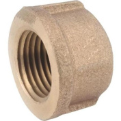 Anderson Metals Corp Inc 738108-12 Red Brass Threaded Pipe Cap-1.9cm BRASS CAP